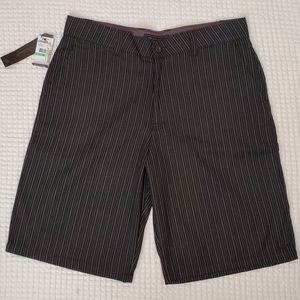 O'Neil Mens Shorts Size 34 black pinstriped NWT